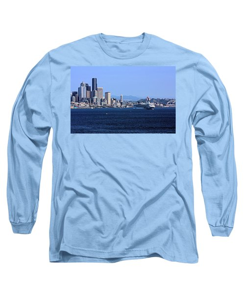 Long Sleeve T-Shirt featuring the photograph Seattle Skyscrapers by Kristin Elmquist