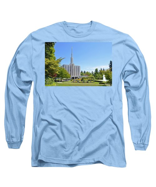 Seattle Temple - Horizontal Long Sleeve T-Shirt