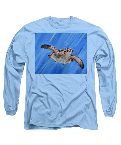 Seaturtle Long Sleeve T-Shirt by Steve Ozment