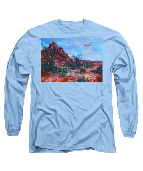 Sedona Red Rocks - Impression Of Bell Rock Long Sleeve T-Shirt by Ellen Levinson