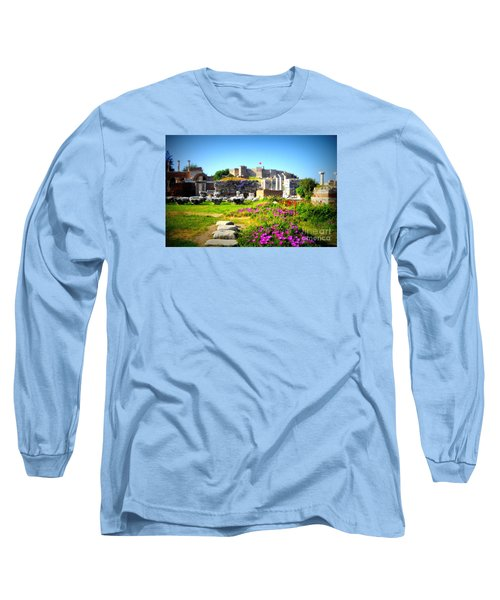 Long Sleeve T-Shirt featuring the photograph Selcuk Castle by Lou Ann Bagnall
