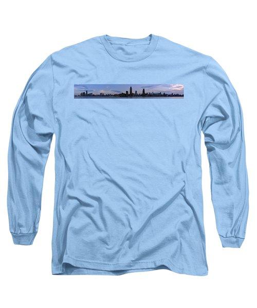 Shanghai Bund Panorama - Dusk Long Sleeve T-Shirt