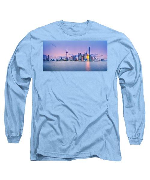Shanghai Pudong Skyline  Long Sleeve T-Shirt