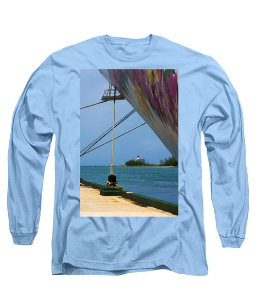 Ship's Ropes And Lighthouse Long Sleeve T-Shirt