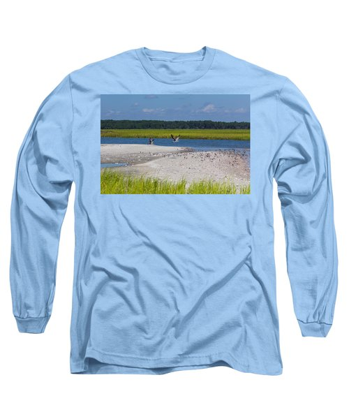 Shorebirds And Marsh Grass Long Sleeve T-Shirt