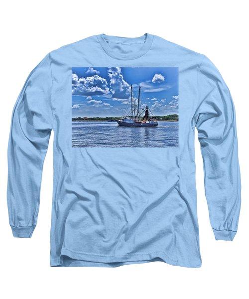 Shrimp Boat Heading To Sea Long Sleeve T-Shirt