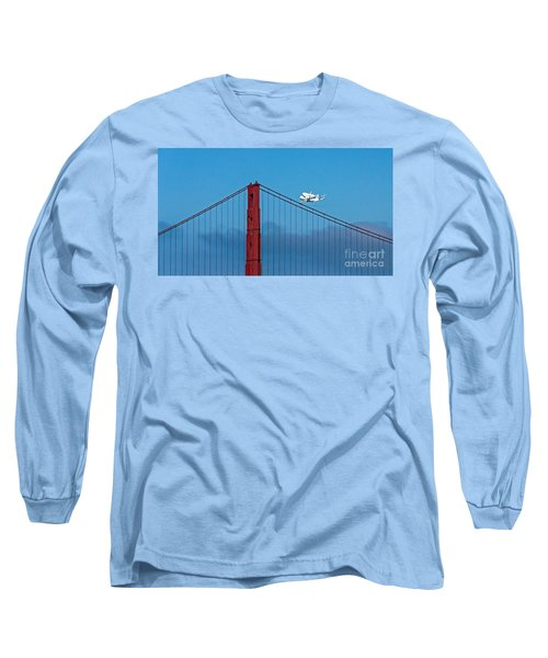 Shuttle Endeavour At The Golden Gate Long Sleeve T-Shirt by Kate Brown