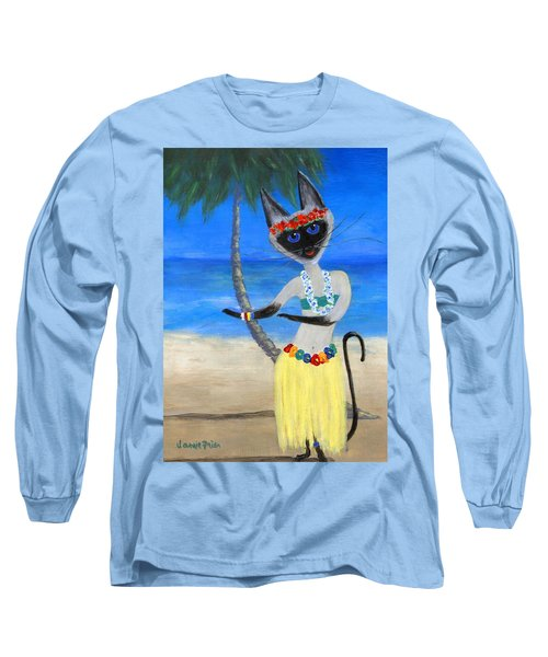 Siamese Queen Of Hawaii Long Sleeve T-Shirt by Jamie Frier