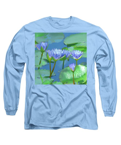 Silken Lilies Long Sleeve T-Shirt by Holly Kempe