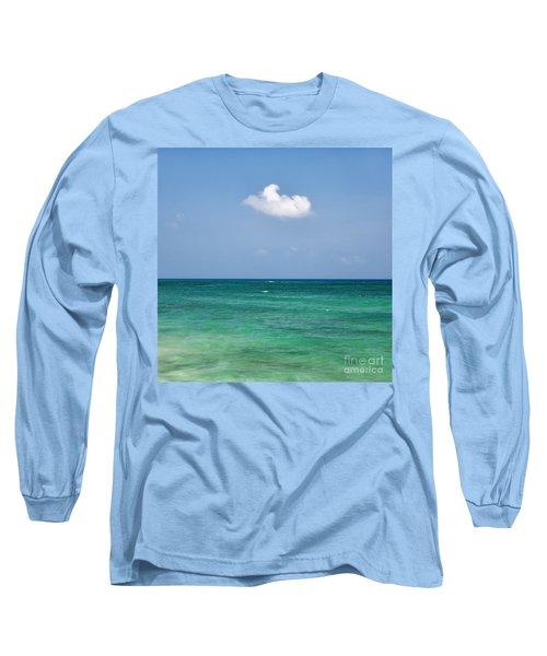 Single Cloud Over The Caribbean Long Sleeve T-Shirt