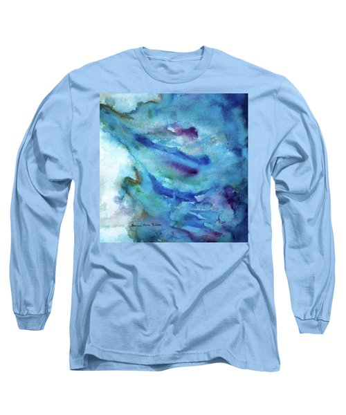 Long Sleeve T-Shirt featuring the painting Sinking by Anna Ruzsan