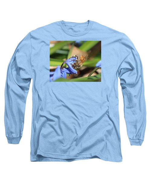 Sipping Upside-down Long Sleeve T-Shirt by Lucinda VanVleck