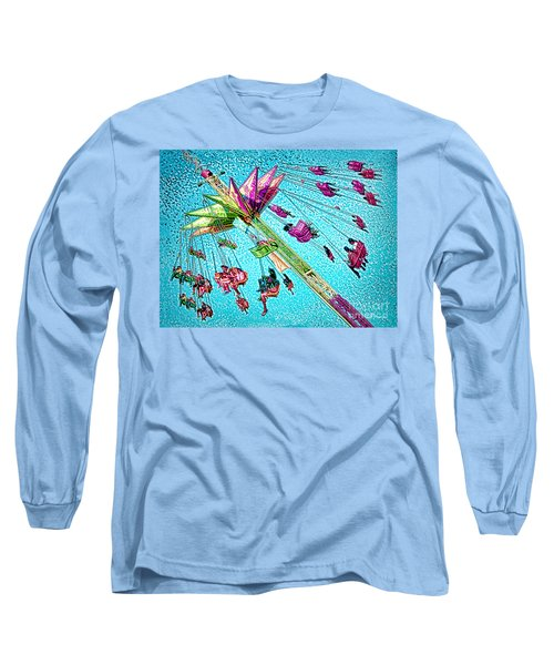 Long Sleeve T-Shirt featuring the digital art Sky Flyer by Jennie Breeze