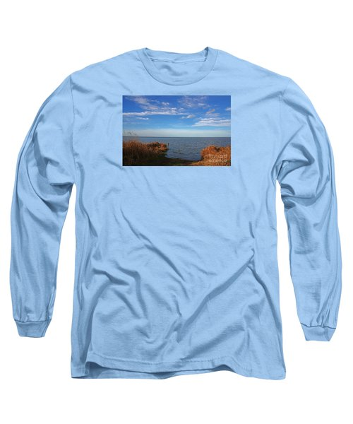 Sky Water And Grasses Long Sleeve T-Shirt by Nareeta Martin