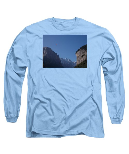Skydiver Over Lauterbrunnen Long Sleeve T-Shirt