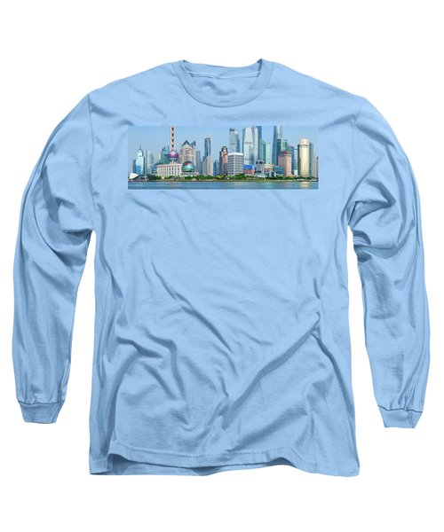 Skylines At The Waterfront, Oriental Long Sleeve T-Shirt