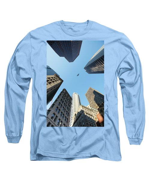 Skyscrapers In A City, Old State House Long Sleeve T-Shirt