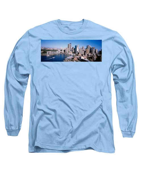 Skyscrapers In A City, Sydney, New Long Sleeve T-Shirt