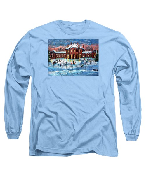 Sledding At The Gore Estate Long Sleeve T-Shirt by Rita Brown