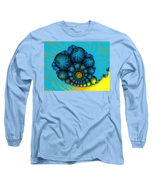 Snail Mail-fractal Art Long Sleeve T-Shirt by Karin Kuhlmann
