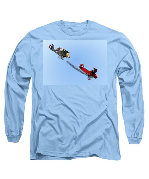 Snoopy And The Red Baron Long Sleeve T-Shirt by Kristin Elmquist