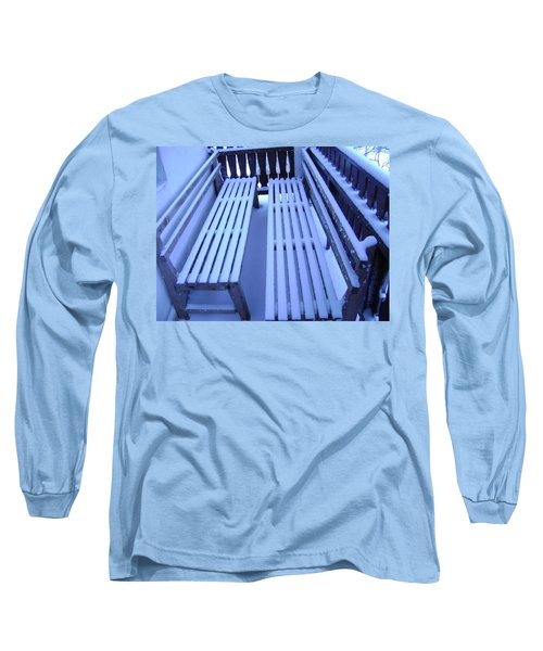 Snow Covered Bench Long Sleeve T-Shirt