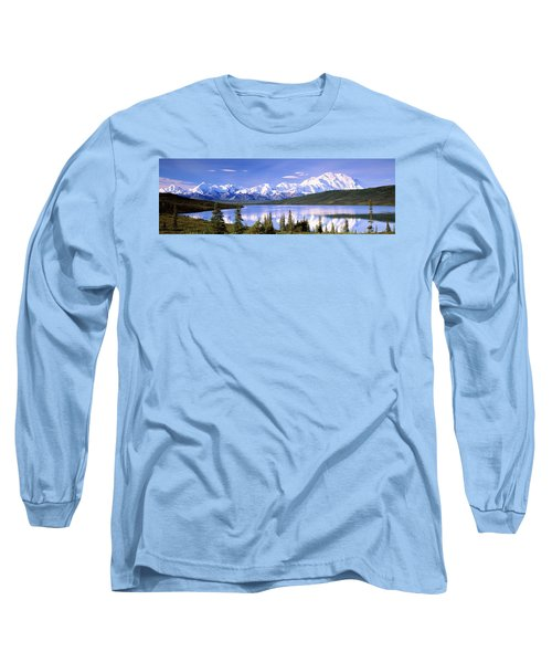 Snow Covered Mountains, Mountain Range Long Sleeve T-Shirt