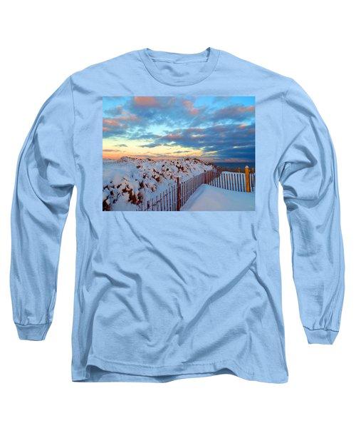 Snow Dunes At Sunrise Long Sleeve T-Shirt by Dianne Cowen