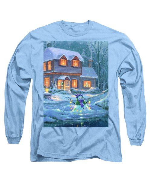 Snowy Bright Night Long Sleeve T-Shirt by Michael Humphries