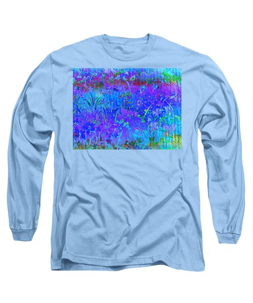 Long Sleeve T-Shirt featuring the photograph Soft Pastel Floral Abstract by Judy Palkimas