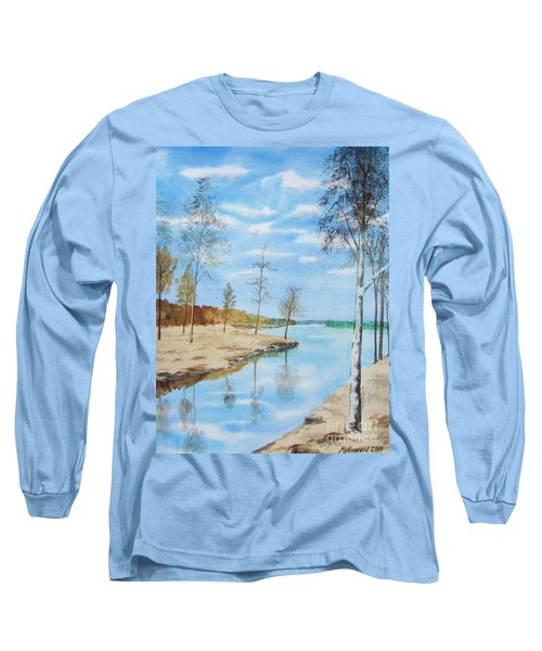 Long Sleeve T-Shirt featuring the painting Somewhere In Dalarna by Martin Howard