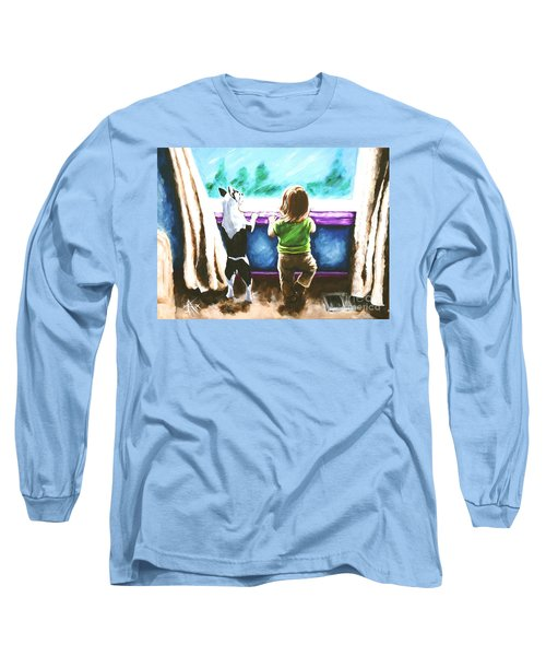 Waiting For Daddy Long Sleeve T-Shirt by Jackie Carpenter