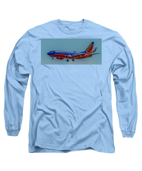 Southwest 737 Landing Long Sleeve T-Shirt by Paul Freidlund