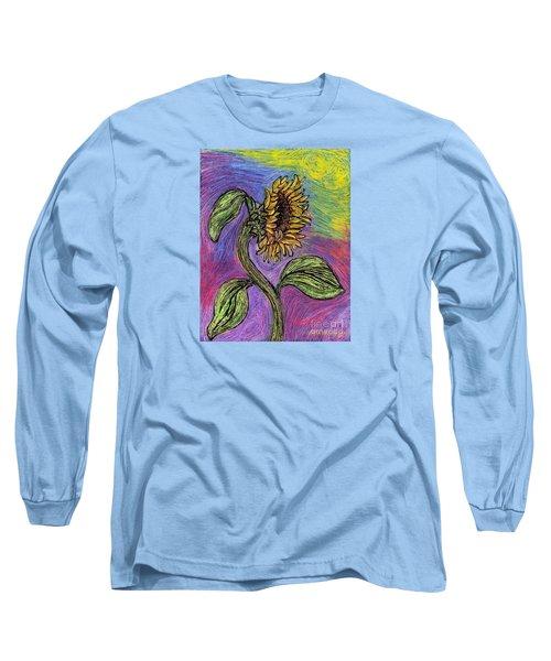 Spanish Sunflower Long Sleeve T-Shirt by Sarah Loft