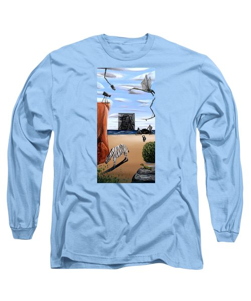 Long Sleeve T-Shirt featuring the painting Species Differentiation -darwinian Broadcast- by Ryan Demaree