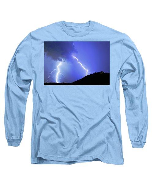 Spectacular Double Lightning Strike Long Sleeve T-Shirt