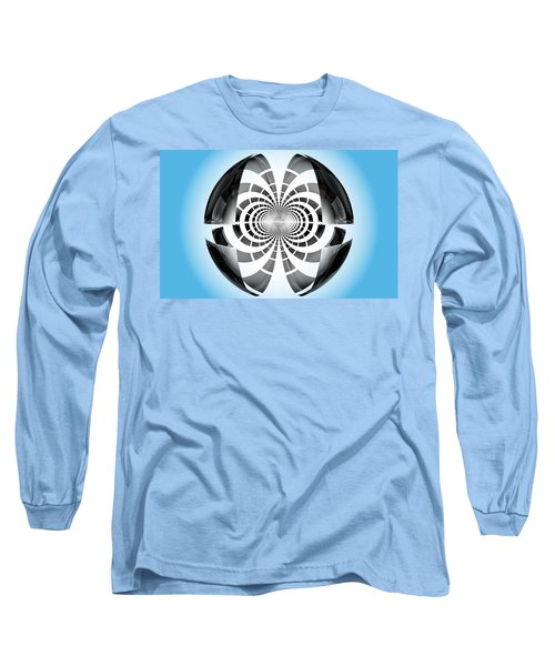 Long Sleeve T-Shirt featuring the digital art Spheroid by GJ Blackman
