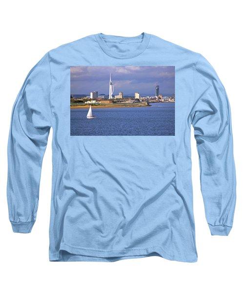 Spinnaker Tower And Gunwharf Quays Long Sleeve T-Shirt