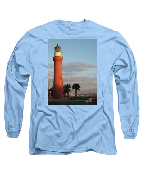 St. Johns River Lighthouse II Long Sleeve T-Shirt by Christiane Schulze Art And Photography