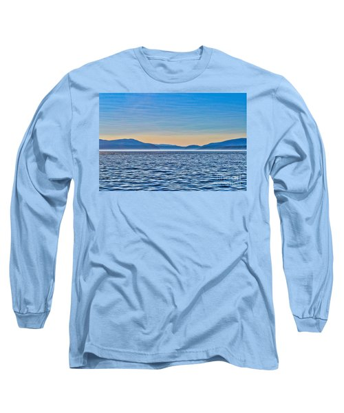 St. Lawrence Seaway Long Sleeve T-Shirt by Bianca Nadeau