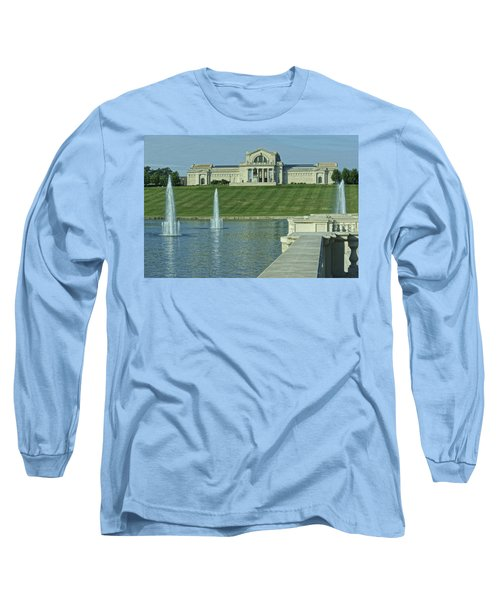 St Louis Art Museum And Grand Basin Long Sleeve T-Shirt by Greg Kluempers