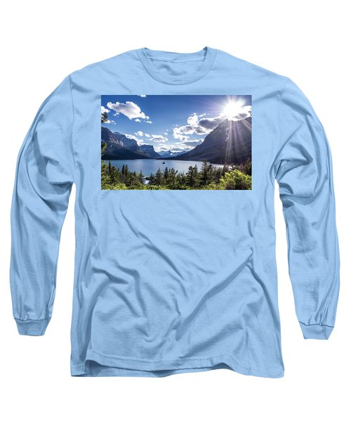 St. Mary Lake Long Sleeve T-Shirt by Aaron Aldrich