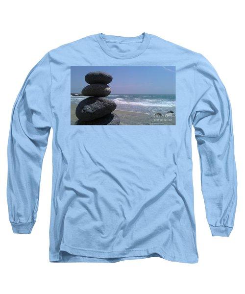 Stacked Rocks Long Sleeve T-Shirt by Chris Tarpening