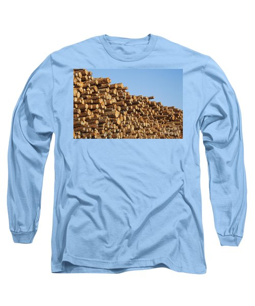 Stacks Of Logs Long Sleeve T-Shirt