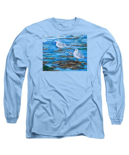 Sea Birds Wait Long Sleeve T-Shirt