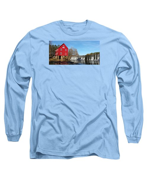 Long Sleeve T-Shirt featuring the photograph Starr's Mill In Senioa Georgia by Donna Brown