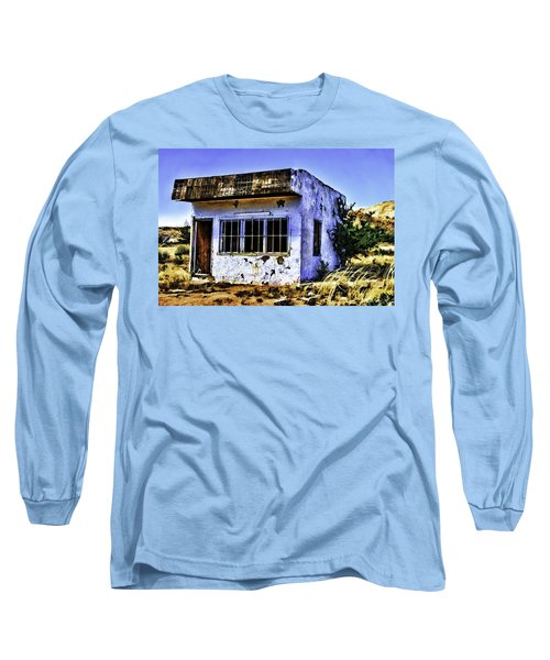 Long Sleeve T-Shirt featuring the painting Store by Muhie Kanawati