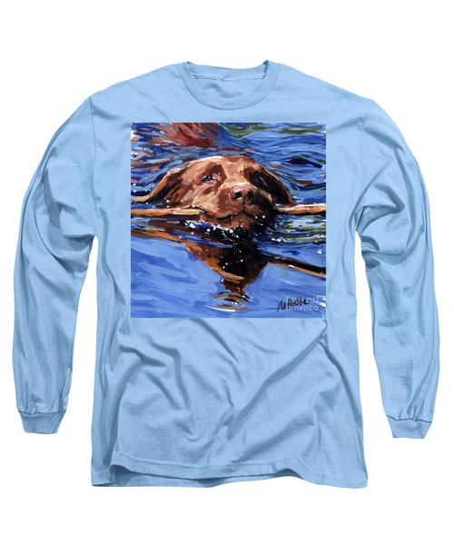 Strong Swimmer Long Sleeve T-Shirt by Molly Poole