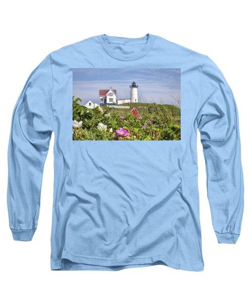 Summer At Nubble Light Long Sleeve T-Shirt