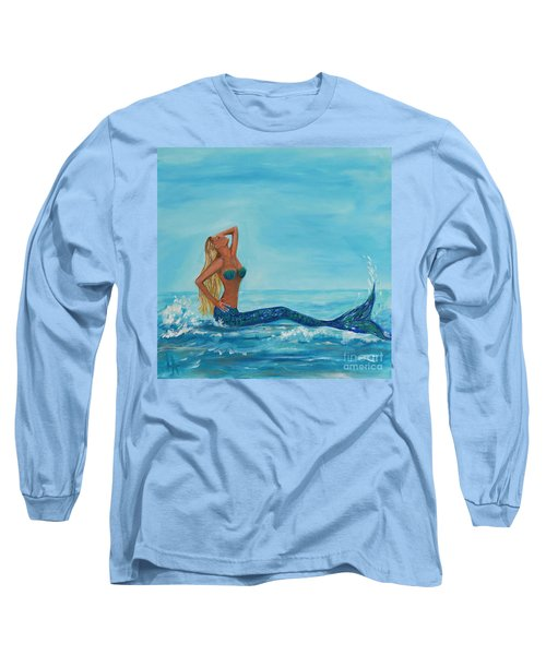 Sunbathing Mermaid Long Sleeve T-Shirt